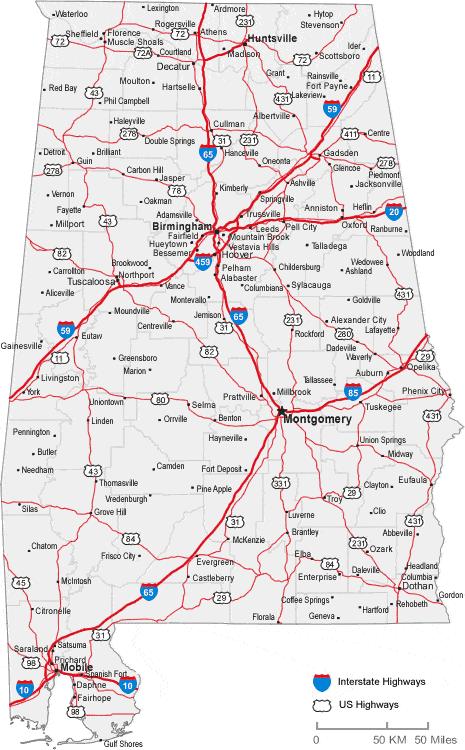 map of alabama cities