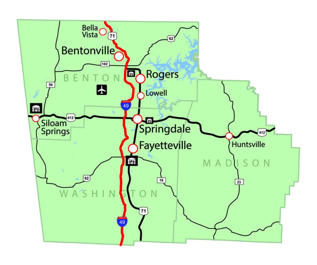 map of northwest arkansas