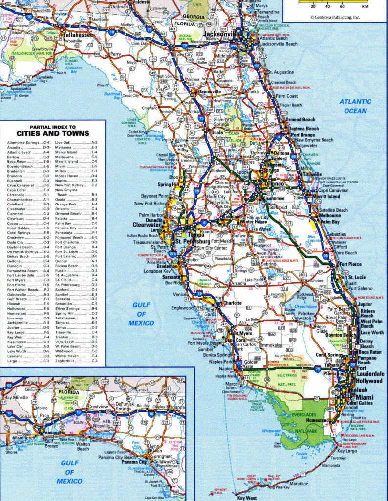 north florida road map