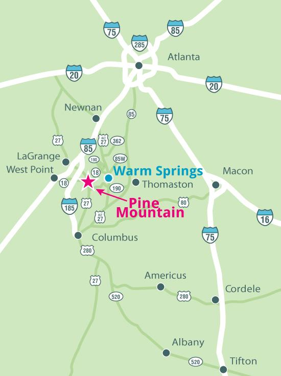 pine mountain map
