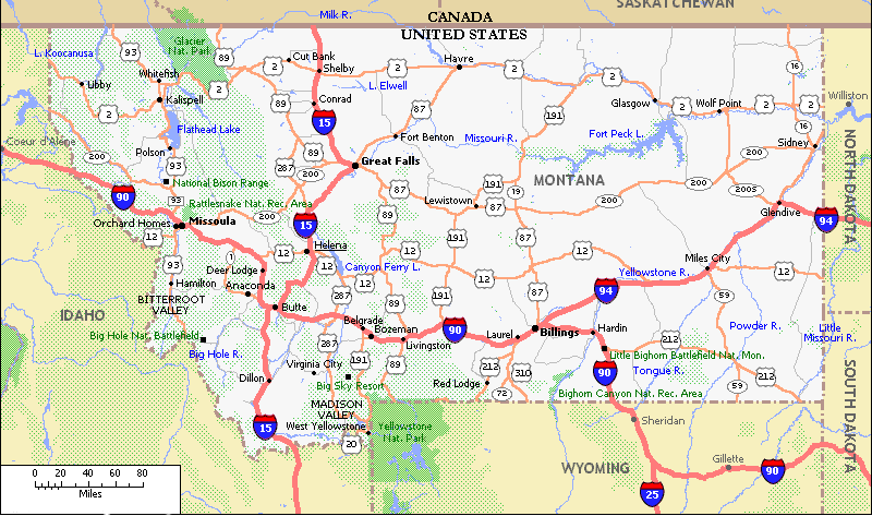road map of idaho and wyoming