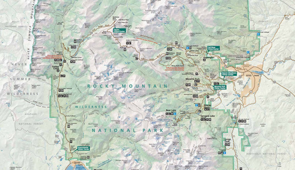 rocky mountains colorado map