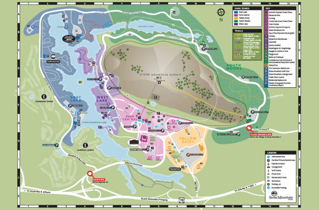 stone mountain park map