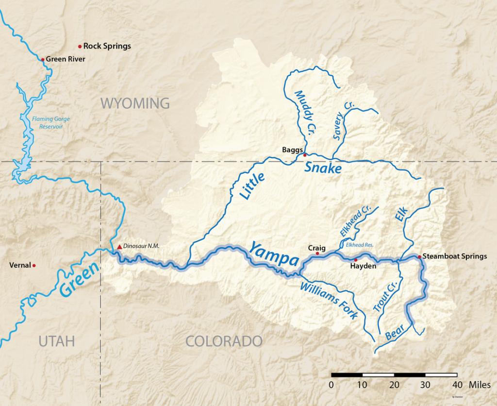 yampa river map