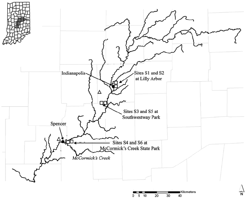 white river indiana map