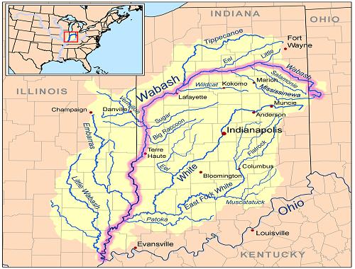 wabash river indiana map