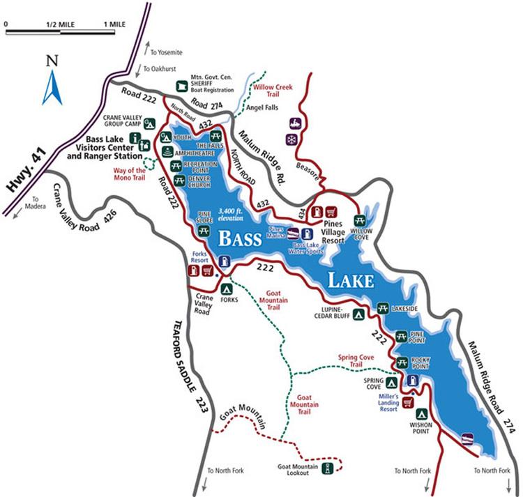 bass lake indiana map