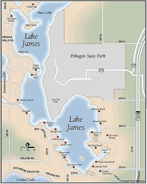 lake james indiana map