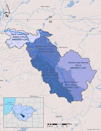 elkhart river map