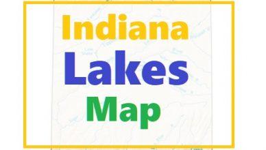 Indiana Lakes Map
