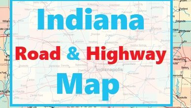 Indiana Road and Highway Map